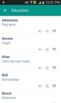 Word book English to Filipino apk screenshot