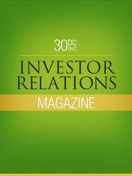 30DC Investor Relations Mag poster
