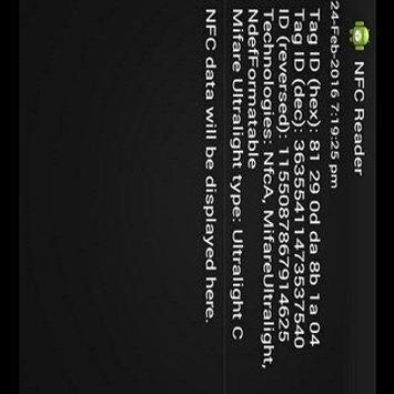 NFC READER apk screenshot