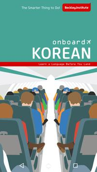 Onboard Korean Phrasebook poster