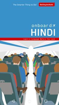 Onboard Hindi Phrasebook poster