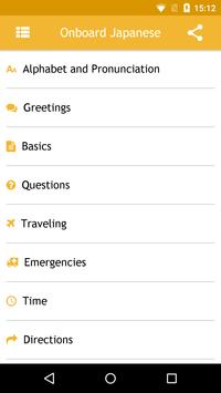 Onboard Japanese Phrasebook apk screenshot