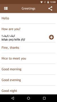 Syrian Arabic Phrasebook apk screenshot