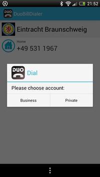 DuoBilllDialer apk screenshot