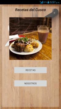 Recetas del Cusco apk screenshot