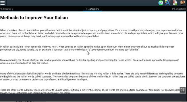 Beginnerss Learning Italian poster