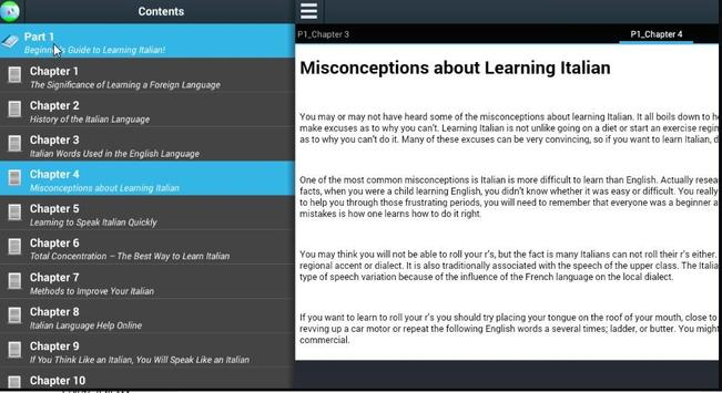 Beginnerss Learning Italian apk screenshot