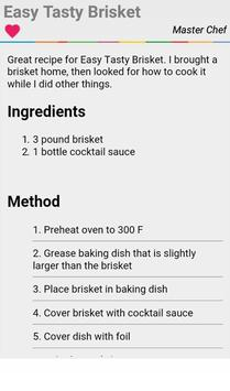 Beef Brisket Recipes Full apk screenshot