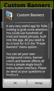 Custom Banners apk screenshot