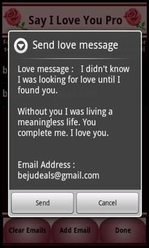 Say I Love You apk screenshot