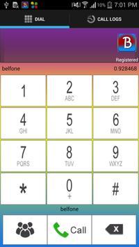 Belfone apk screenshot