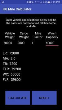 H8 Mire Calculator apk screenshot