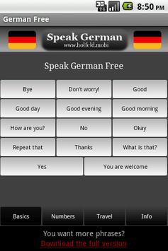 Speak German Free poster