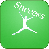 Beautiful quotes of success icon
