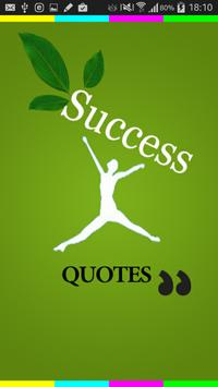 Beautiful quotes of success poster