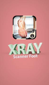 Xray Scanner Foot Simulated poster