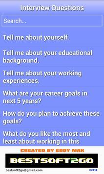 Job Interview Q&A poster