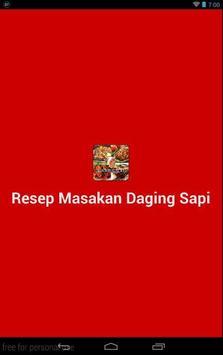 Resep Masakan Daging Sapi apk screenshot