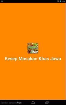 Resep Masakan Khas Jawa poster