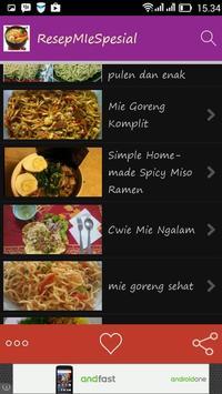 Resep Mie Spesial! apk screenshot