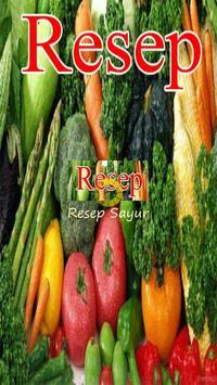 Resep Sayur Spesial poster