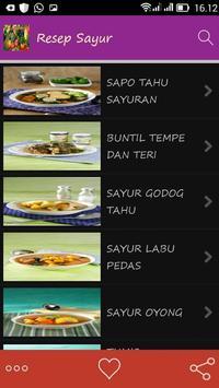 Resep Sayur Spesial apk screenshot