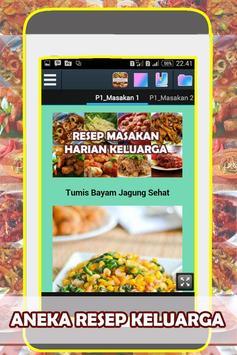 Resep Masakan Harian Keluarga poster