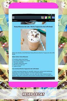 Resep Minuman Ala Cafe Praktis apk screenshot
