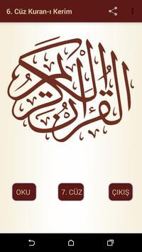 Kuran-ı Kerim 6.Cüz poster