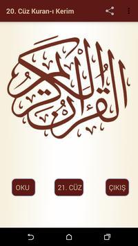 Kuran-ı Kerim 20.Cüz poster
