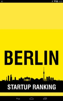 Berlin Startup Ranking poster