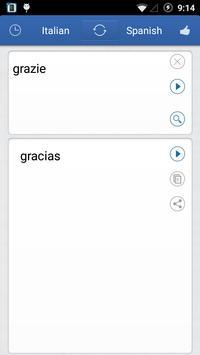 Italian Spanish Translator apk screenshot