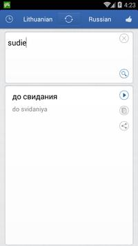 Lithuanian Russian Translator apk screenshot