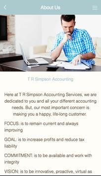 T R Simpson Accounting apk screenshot