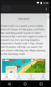 Guide for Puzzle Craft 2 poster