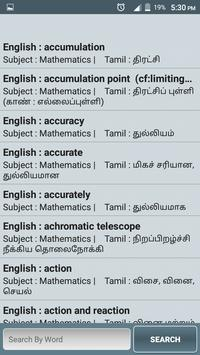 Technical Glossary Tamil poster