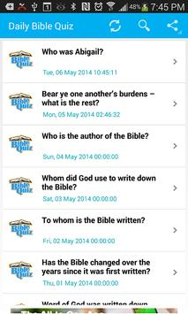 Bible Trivia- Quiz Daily apk screenshot