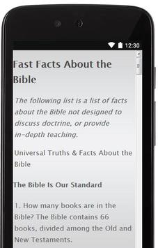 Greatest facts of Holy Bible apk screenshot