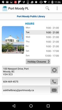 Port Moody Public Library apk screenshot