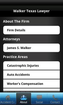 Walker Texas Lawyer apk screenshot