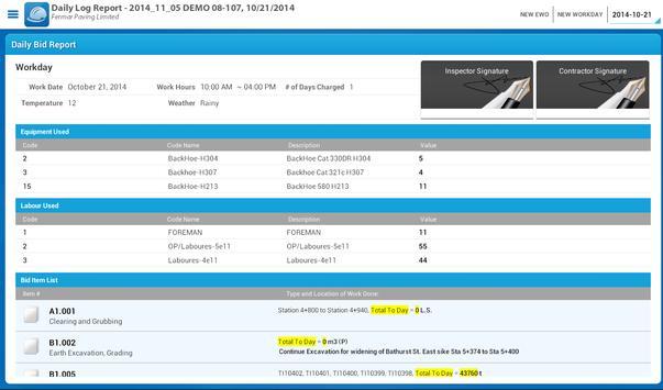 Mobile Inspector Logbook apk screenshot