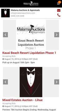 Malama Auctions apk screenshot