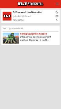 RJ Stockwell Auction & Land Co apk screenshot