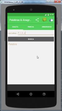 Palabras & Anagramas Buscador apk screenshot