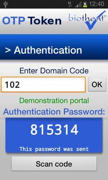 OTP Token apk screenshot