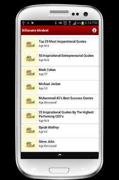 Billionaire Mindset apk screenshot