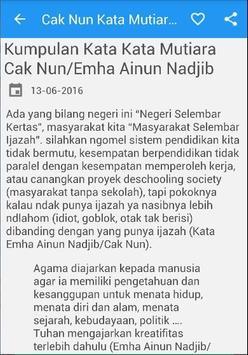 Cak Nun Kata Mutiara Bijak apk screenshot