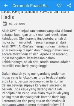 Ceramah Khutbah Puasa Ramadhan apk screenshot