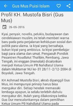 Gus Mus Puisi Islam Penyejuk apk screenshot