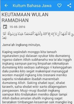 Kultum Bahasa Jawa Khotbah apk screenshot